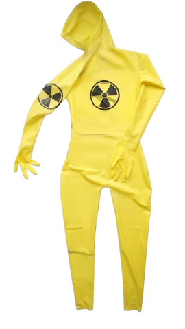 Latex Catsuit with Radioactive Logo design