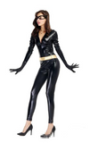 Black Fancy Latex catsuits for women