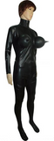 Big Busted Inflatable Latex Catsuit