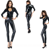 Black Sexy Latex catsuits for women