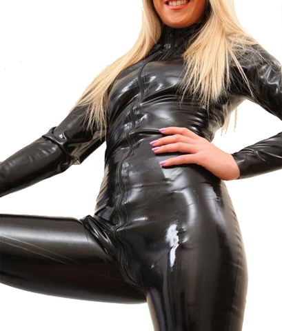 Black Sexy Latex bodysuits for women