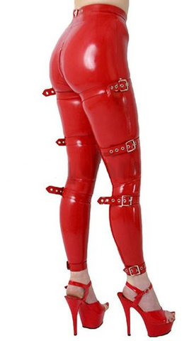Buckle Up Latex Pants
