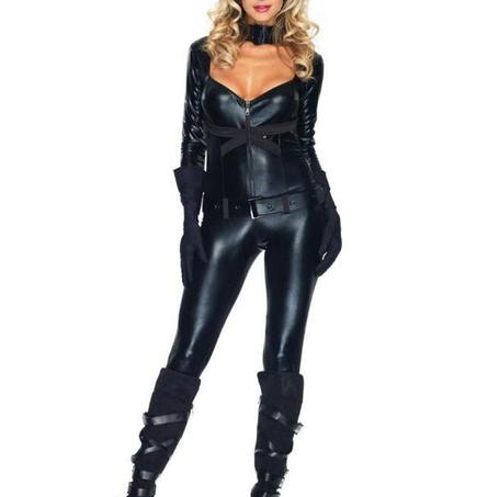 Provocative Lady-cat Latex Bodysuit