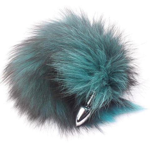 Auroral Green Fantasy Fox Tail Sex Toy