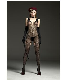 Daring Dominatrix Costume Bodysuit