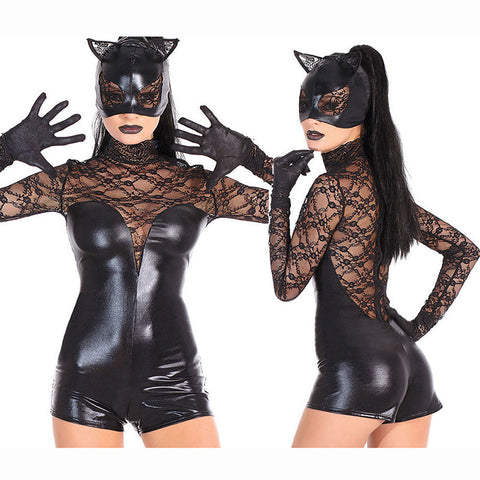 Feisty Catwoman Costume Bodysuit