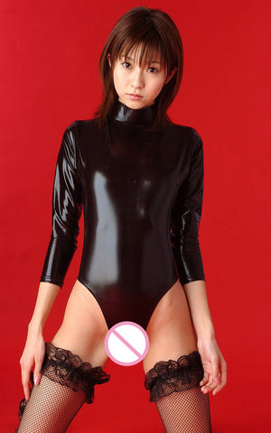 Sexy Swimsuit Turtleneck Leotard