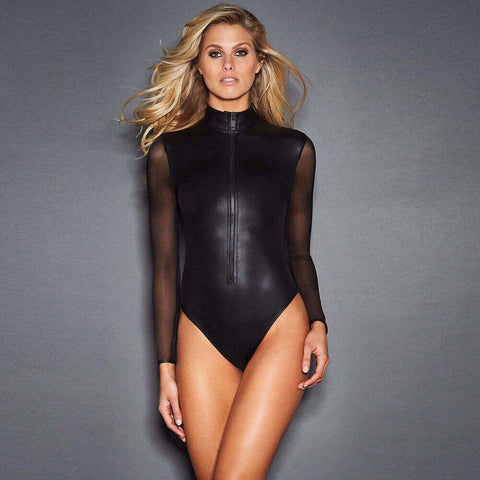 Stunning Full-Sleeved Latex Bodysuit