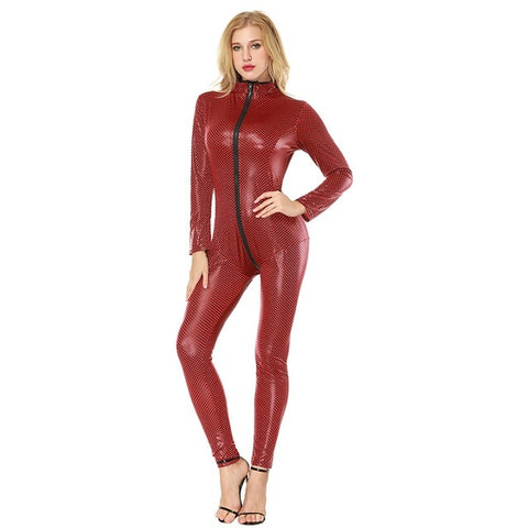 Open-crotch Latex Catsuit