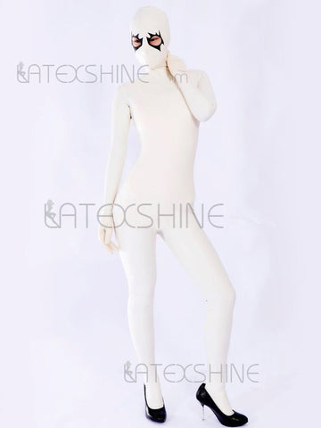 Skin-Tight Full Body Latex Catsuit with Eye Holes