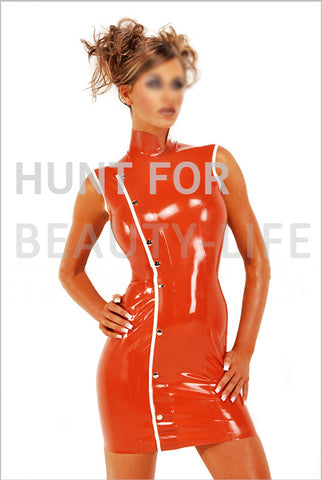 Sultry Chinadoll Latex Dress