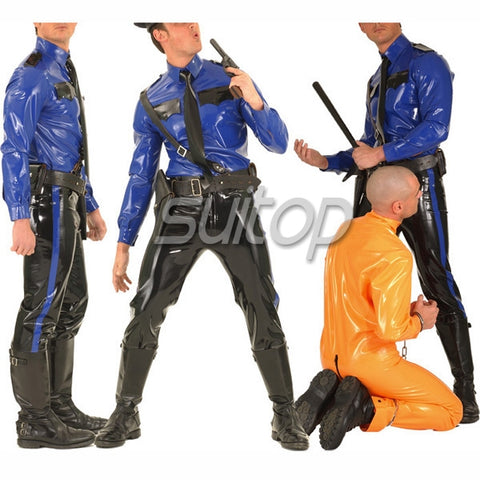 Lord Commander Latex Policeman Costume