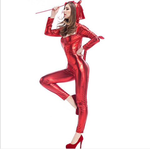 Little Miss Troublemaker Latex Costume