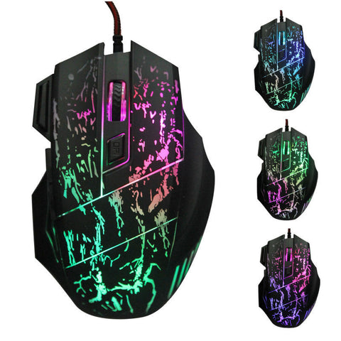 Mouse Gamer 3200 DPI 7 Buttons 7 Colors LED - Pro Gaming Mouse