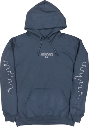 Brushed Blue Skyline Hoodie