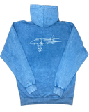 Marble Blue Midnight Airline Hoodie