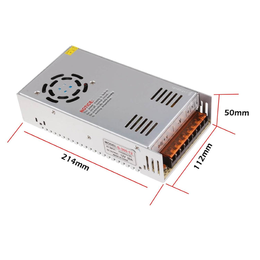 12V 360W 30A Regulated Power Supply