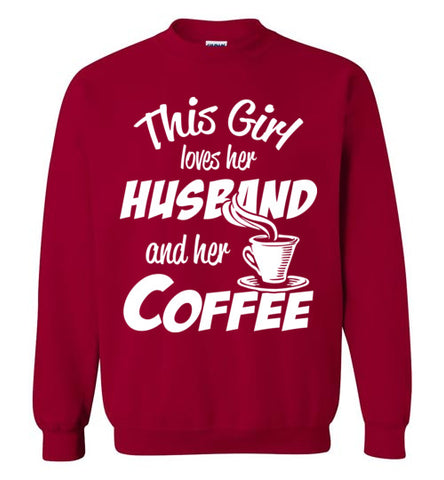 Husband coffee Sweatshirt - marc's funny tees