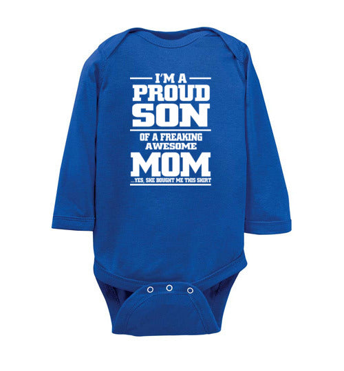 Awesome Mom For Baby Sons - marc's funny tees