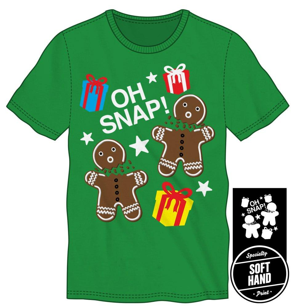 Oh Snap! Men's Green T Shirt - marc's funny tees
