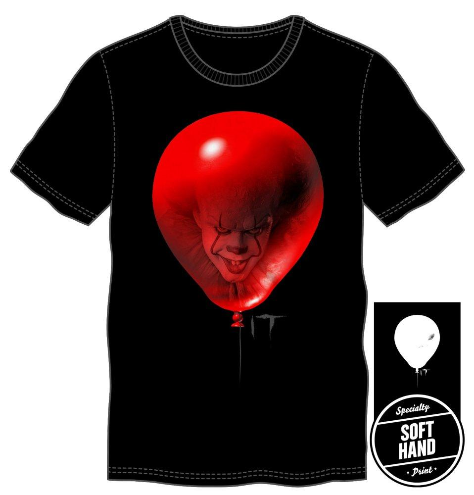 It Mens Red Balloon Black T-Shirt - marc's funny tees