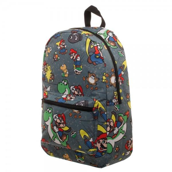 Snes Mario Sublimated Backpack - marc's funny tees