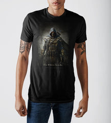 Elder Scrolls Archer Character Black Graphic Print T-shirt - marc's funny tees