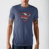 Image of Superman Navy T-Shirt - marc's funny tees