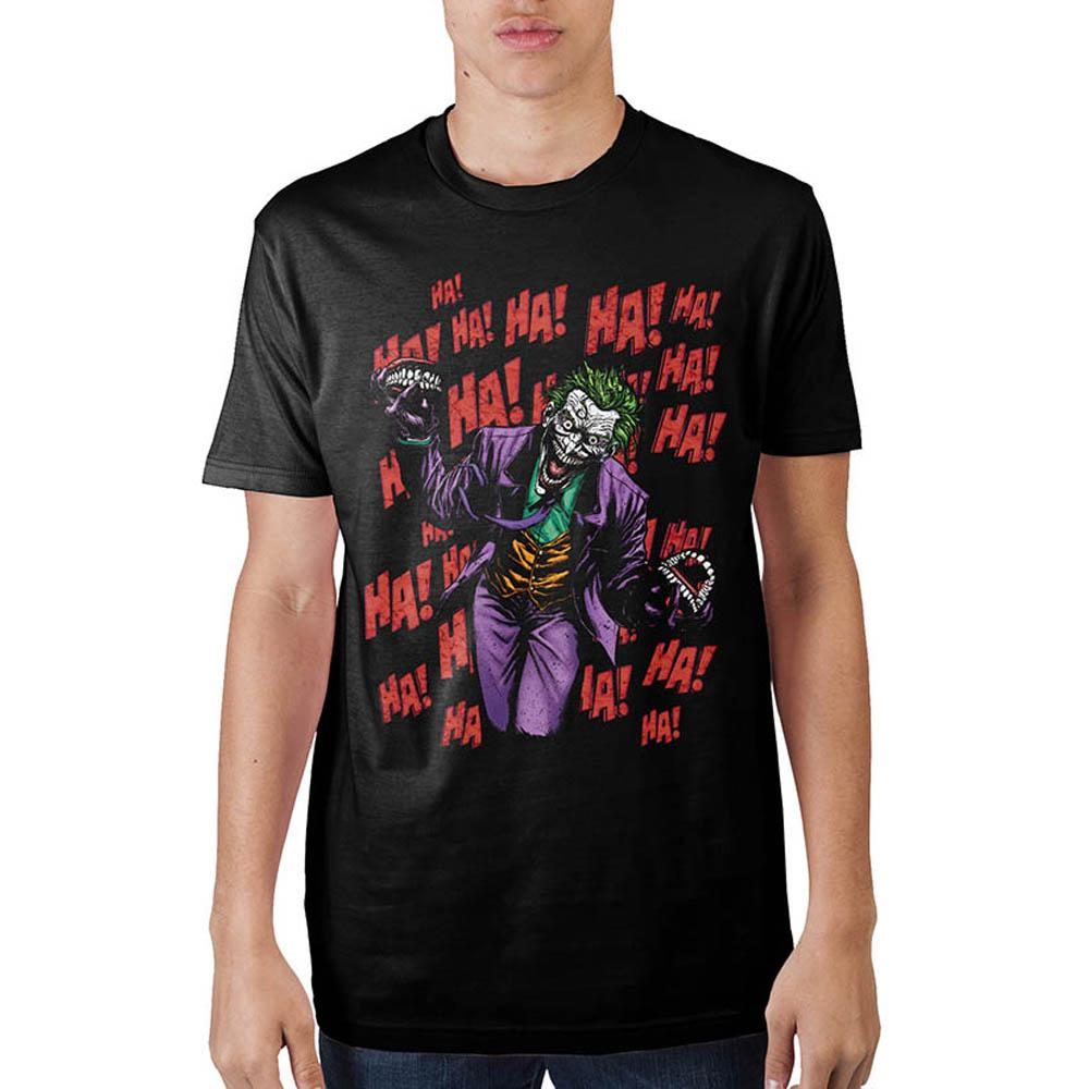 Joker Ha Ha Ha Black T-Shirt - marc's funny tees