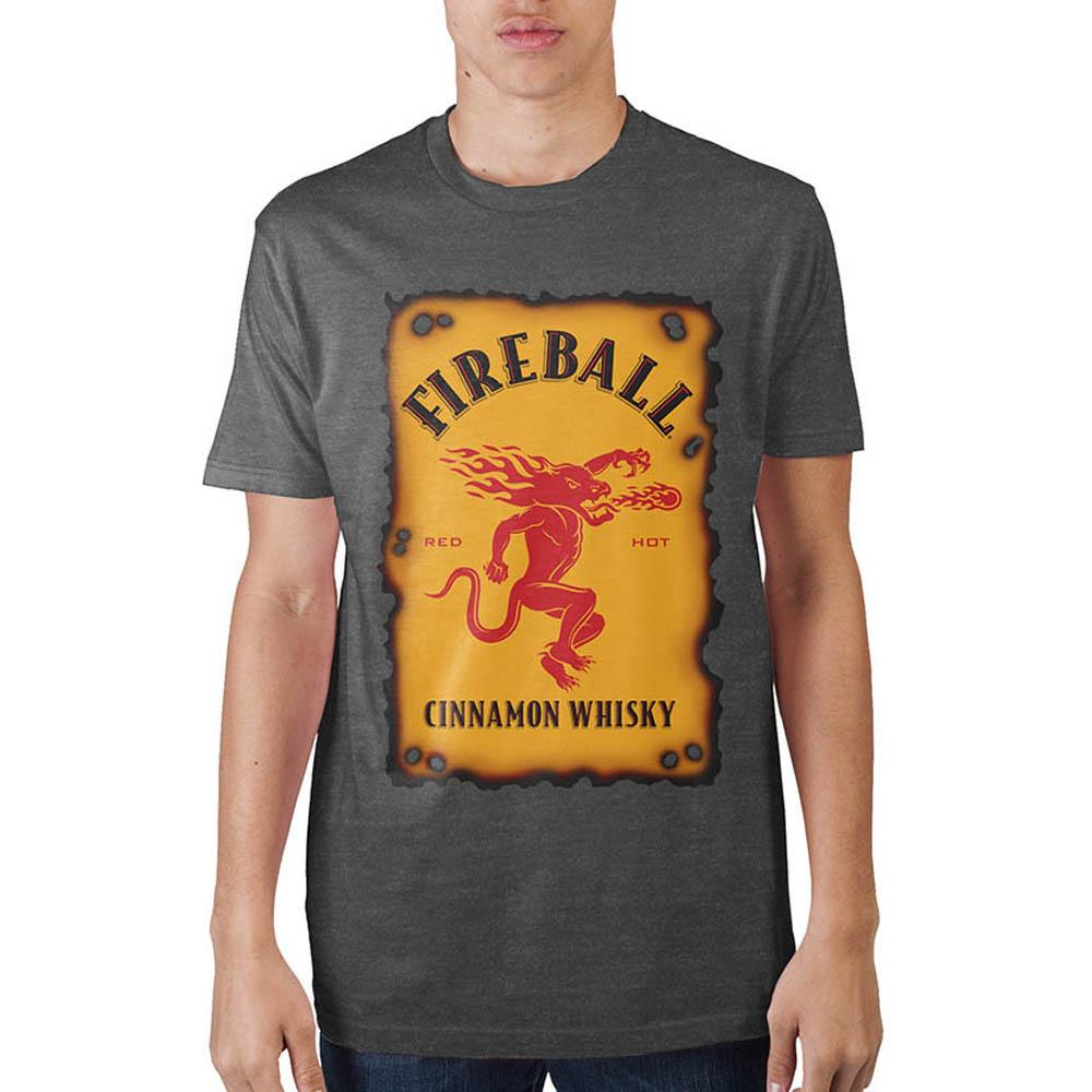 Fireball Label Charcoal Heather T-Shirt - marc's funny tees
