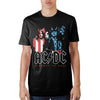 Image of AC/DC Flag Black T-Shirt - marc's funny tees