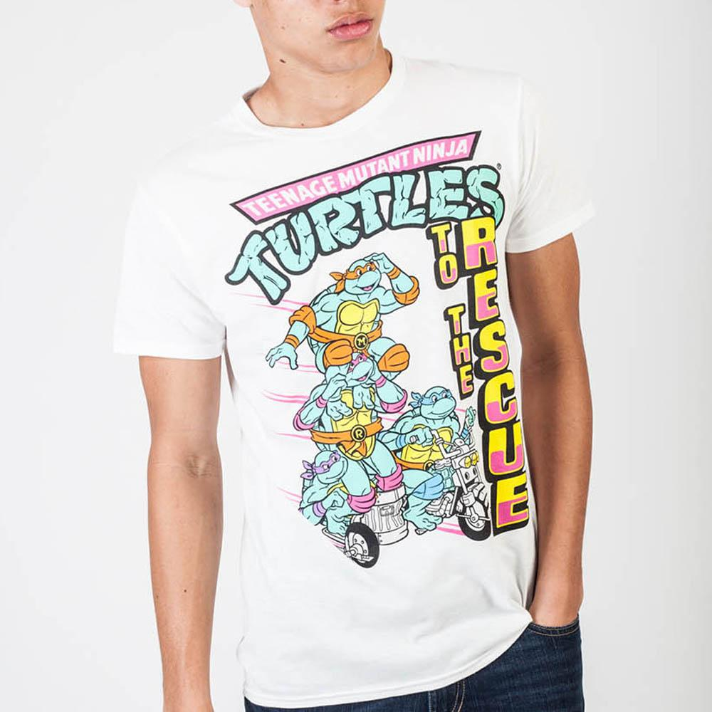 Teenage Mutant Ninja Turtles To The Rescue White T-Shirt - marc's funny tees