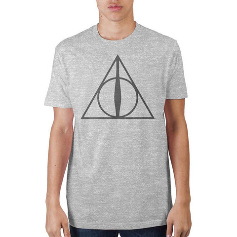 Deathly Hallows Adult Male T-Shirt - marc's funny tees