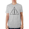 Image of Deathly Hallows Adult Male T-Shirt - marc's funny tees