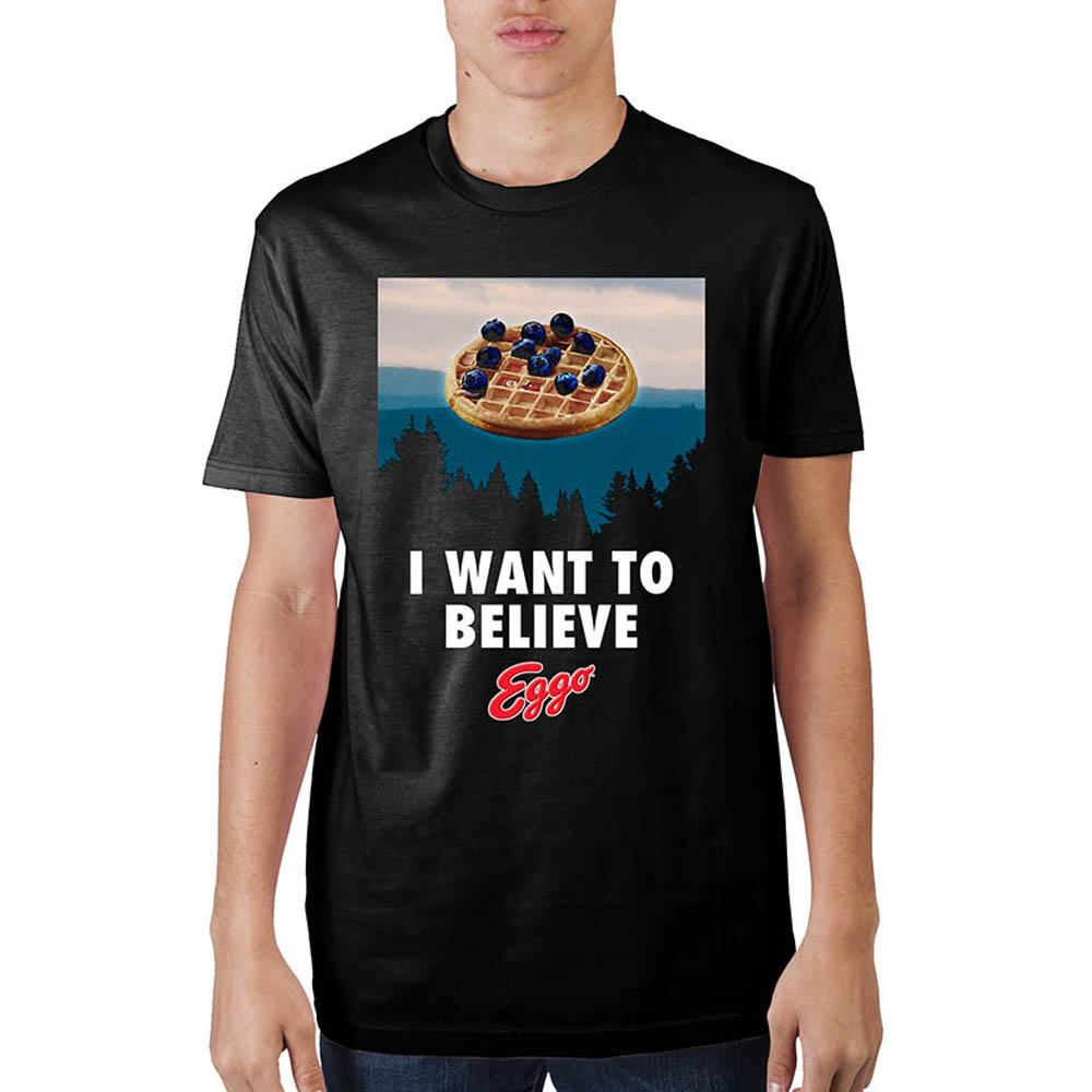 "Eggo ""I Want To Believe"" T-Shirt - marc's funny tees"