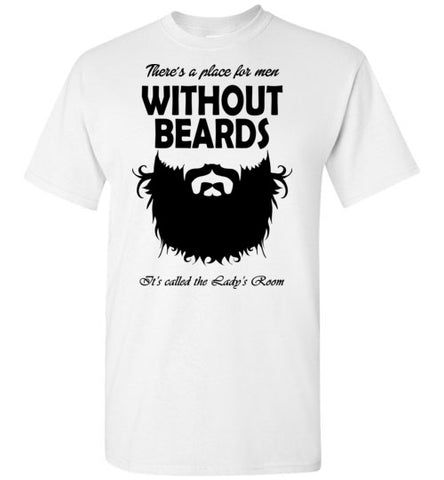 Without Beard White - marc's funny tees