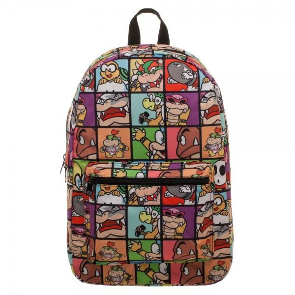 Nintendo Super Mario Villains Sublimated Backpack - marc's funny tees