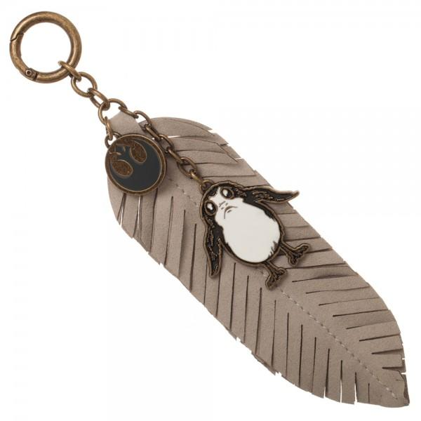 Star Wars Episode 8 Porg PU Feather Keychain - marc's funny tees