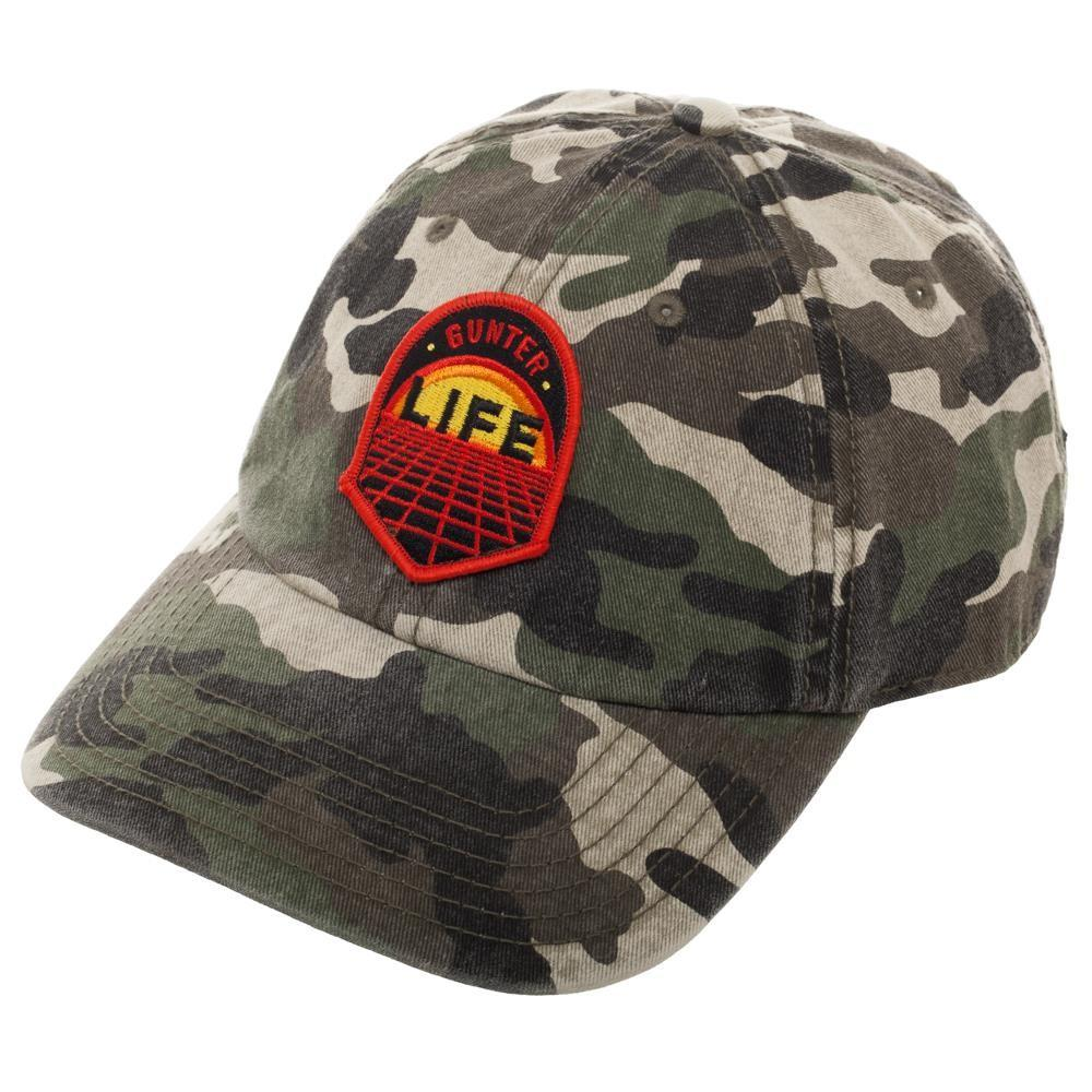 Camouflage Gunter Life Dad Hat, Single Patch Design on Adjustable Cap, Gamer Dad Gift Hunting Easter Eggs - marc's funny tees