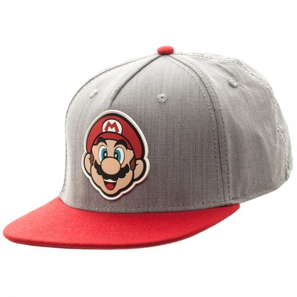 Nintendo Mario Rubber Sonic Weld Gray/Red Snapback - marc's funny tees