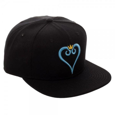 Kingdom Hearts Heart Embroidery Snapback - marc's funny tees