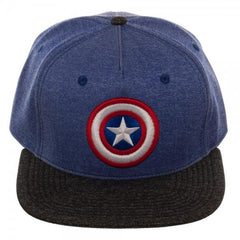 Captain America Two Tone Cationic Snapback - marc's funny tees