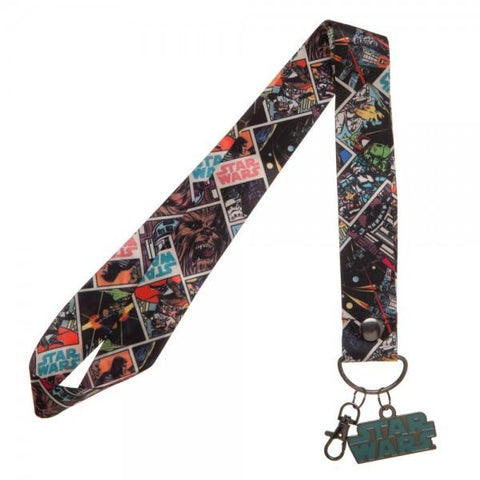 Star Wars Wide Lanyard with Metal Charm - marc's funny tees