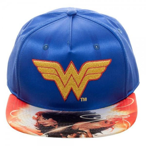 DC Comics Wonder Woman Satin Snapback - marc's funny tees