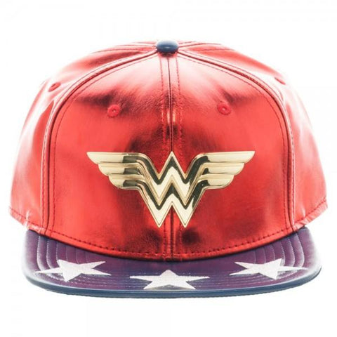 DC Comics Wonder Woman PU Suit Up Snapback - marc's funny tees