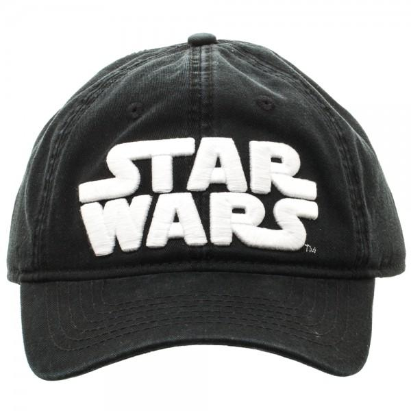 Star Wars Logo Black Adjustable Cap - marc's funny tees