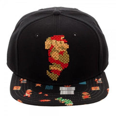 Mario 8-Bit Sublimated Bill Snapback - marc's funny tees
