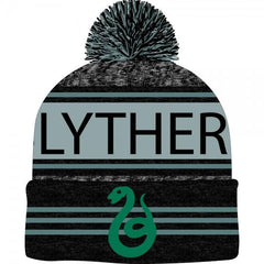 Harry Potter Black Green Teal Marled Pom Beanie - marc's funny tees