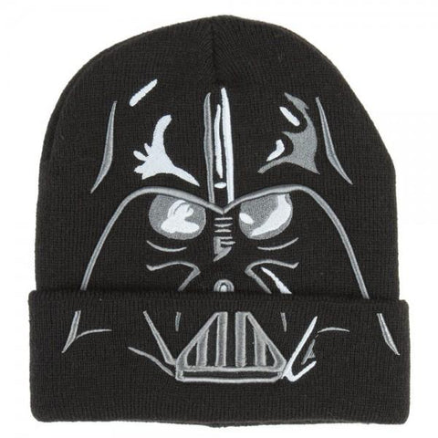Star Wars Darth Vader Cuff Beanie - marc's funny tees