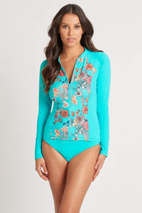 Dominicia Aqua Long Sleeved Rash Vest